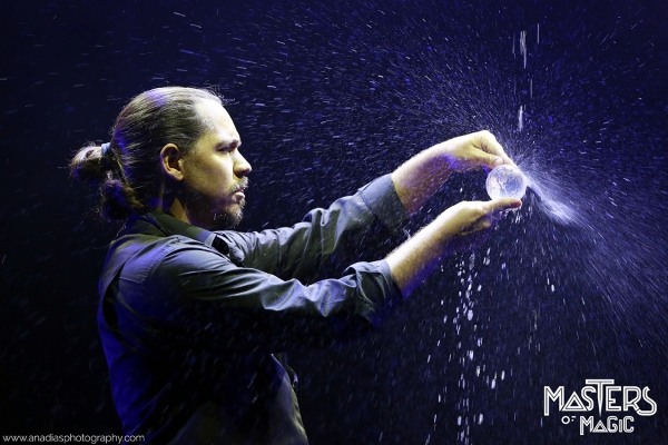Magician magic production from the water shows unique show