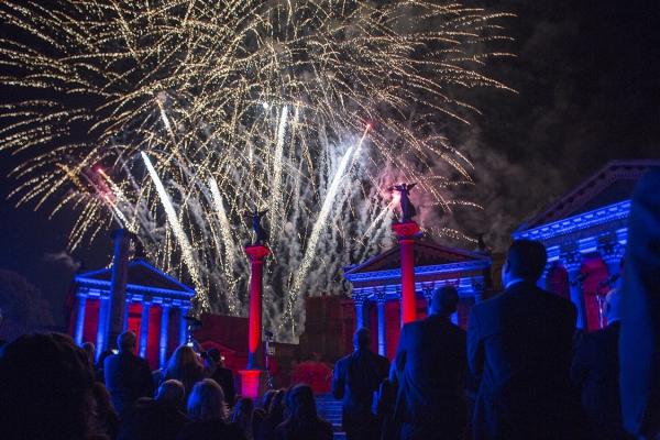 الألعاب النارية والألعاب النارية ، لجعل الذكرى السنوية لسنوات 150 من تأسيس خاص DNV GL.