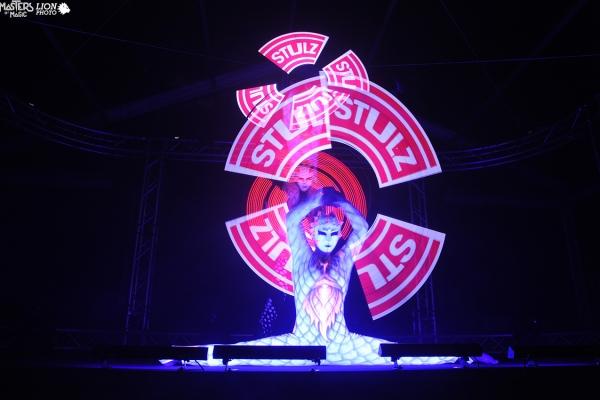 Grand gala show, magisk show led, uendelig begivenhed for Stulz.