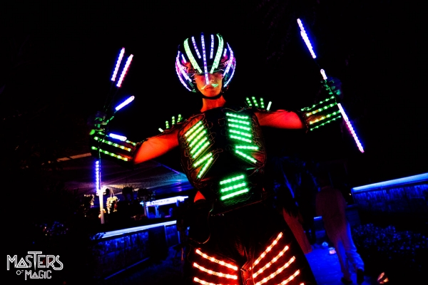 Animation, led robots, artists and led figures, stilts and waders for events