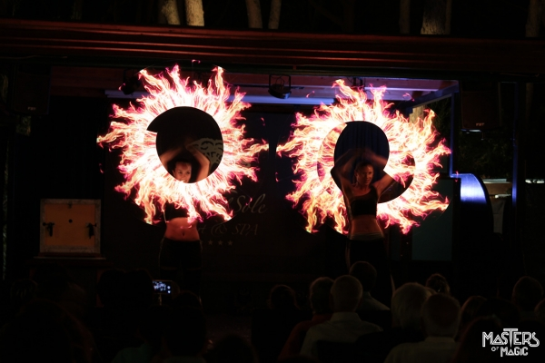 Riva del Sole - Dream Magic - bright juggling, light effects, stage effects, magic fire, scenic show of lights and colors.